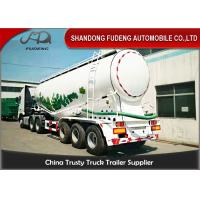 Quality 45m3 Pneumatic Dry Bulk Cement Tanker Trailer With Diesel Engine for sale