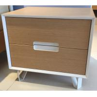 Buy cheap Sturdy storage wood cabinets, 2 drawers and stable steel supporting legs product