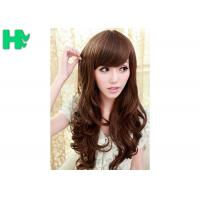 Buy cheap Brown Long Wave Natural Synthetic Hair Wigs for Women 70cm Length from wholesalers