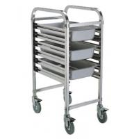 China Assembled 1/1 Full Size GN Pan Holding Rack Single or Double Column Stainless Steel Catering Equipment on sale