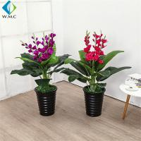 0.8m Height Fake Potted Plants , Orchid Bonsai Tree Customized Design for sale