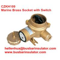10A/16A marine brass socket with chain switch outlet CZKH202 IP56