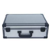 Quality Alu carry case gray storage box with die cut foam for sale