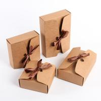 China Square Paper Sweet Box Degradable Eco - Friendly Material With Ribbon on sale