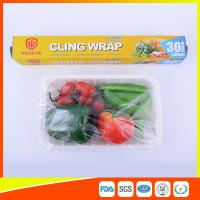 Buy cheap Food Safe Kitchen PE Cling Film Wrap Jumbo Roll For Food Packaging product