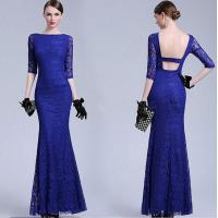 Quality Latest Dress Designs Formal Royal Blue Bodycon Evening Dress 50s Vintage Dresses for sale