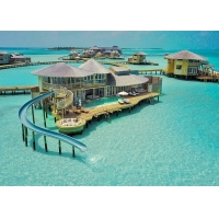 Hurricane Proof Prefab Bungalow , Overwater Bungalow Prefab Wooden House