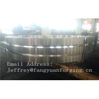 Martensitic Stainless Steel Forging Rings Forged Bar Heat Treatment Rough Turned