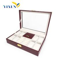 Buy cheap New Style Black PU Leather upscale Watch storage Box Beige Flannelette Paper Interior from wholesalers