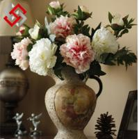 Peony Floral Artificial Flower for Bonsai and Christmas Decoration