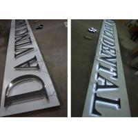 Quality Metal LED Backlit Sign Letters / Illuminated Sign Board Letters For Businesses for sale