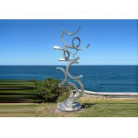 Contemporary Art Stainless Steel Sculpture For Outdoor Decoration Anti Corrosion