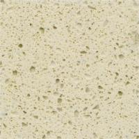 Quality Functional Cream Quartz Stone Countertops With Flat Edge And Eased Edge for sale