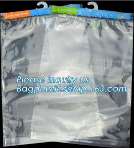 Quality Hanger Plastic Hook Bag for Packaging on Festivals,Hanger PVC bed sheet packaging bag with buttons,Stationery Set Transp for sale
