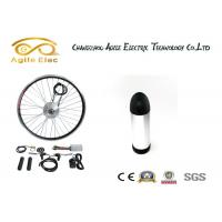 Quality 350W Black Hub E-Bike Wheel Motor Kit With Water Bottle Type Battery​ for sale