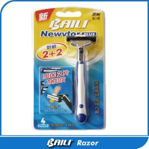 Quality Man plastic handle Twin Blade Razor pivoted head razors Ergonomic Design for sale