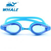 China Blue Hypoallergenic Silicone Swimming Goggles For Kids And Early Teens on sale