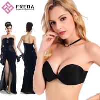 Quality F056 Fashion Style Seamless Strapless One Piece Stick On Bra for sale