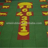 Quality exceptionally outdoor play sports rubber floor tiles paver for sale for sale