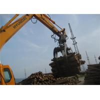 China 360 Degree Rotating Wood Grapple Attachment For Excavator Komatsu PC200 on sale