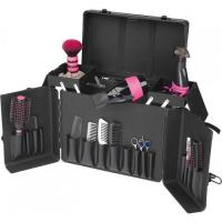 Quality Aluminum Hairdresser Case With Trolley, Aluminum Grooming Case With Trolly In Black for sale