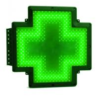 Quality RF Communication LED Cross Sign High Bright Single Sided Output 12V 5A Green for sale