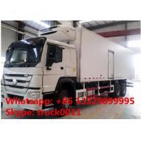 2017s SINO TRUK HOWO 25tons refrigerated truck with THERMO King refeer for sale, best price HOWO 336hp cold room truck