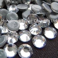China ss10 clear crystal flat back hot fix crystal rhinestone for garment/shoes/hats on sale