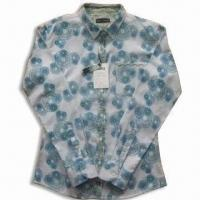 Quality Men's Casual Shirt with Buttons and Long Sleeves for sale