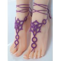 Quality Crochet Barefoot, Nude shoes, Foot Jewelry, Beach Wedding, Sexy Anklet , Bellydanc for sale