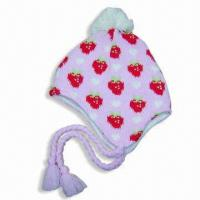 Quality Acrylic Jacquard Hat with Fleece Lining for sale