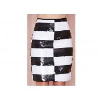 China Striped Polyester Womens Dresses Skirts Washable With Side Zipper on sale