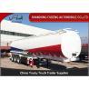 Tri-Axles Fuel Tanker Semi Trailers 6 compartments crude oil tanker trailers
