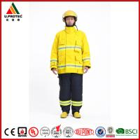 Quality Hi Vis Safety Flame Retardant Work Coverall Firefighter Uniforms High Visibility for sale