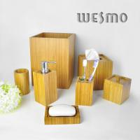 Quality 8 Piece Contemporary Bamboo Bathroom Set for sale