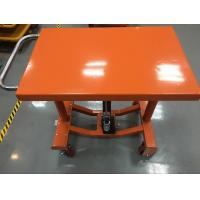 Quality Four Wheels Electric Hydraulic Lift Table Adjustable Height 610 X 915 Mm Table Dimensions for sale