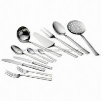Quality Stainless Steel Cutlery Set with Sanding Brush Designs, High Quality, Suitable for Restaurant Use for sale