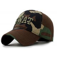 Quality Camping Camouflage Baseball Cap , Sports Unisex Snapback Hats Adults Size for sale