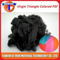 Quality Black Recycled Polyester Staple Fiber, Dope Dyed Recycled PSF for Nonwoven / Spinning Yarn 1.5D-15D for sale