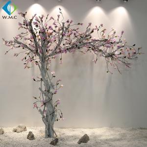 China White Trunk Pink Flower Magnolia Fake Tree , Silk Magnolia Tree 2m Height on sale