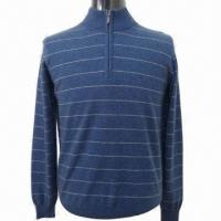 Quality 2013 Men's Sweater/Pullover with Half Zip, Turtle Neck and Long Sleeve for sale