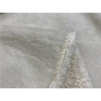 China Men And Ladies Garment Faux Suede Fabric 54 Width Anti - Aging 750GSM on sale