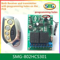 Quality SMG-802HCS301 12V 2ch remote controller with programming pads for sale