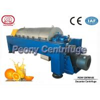 Quality Large Capacity Continuous Decanter Centrifuges for Fruit Juice Clarifying for sale