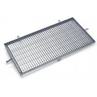 Quality Sidewalks Steel Grating Drain Cover Rectangle / Square Mesh High Bearing for sale