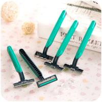 Quality Disposable Razors Men Hotel Two-layer Blade Manual Shavers Stainless Steel Blade Shaver for sale