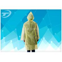 Quality Yellow  PE Plastic Raincoat Disposable  With Food Grade For Children And Adult for sale