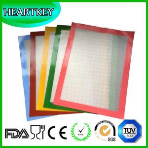 Quality Multiple Colors Custom Half-sheet 40x30cm Silicone Fiberglass Baking Mat for sale