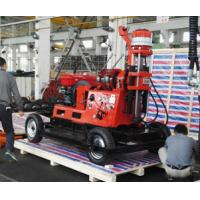 Quality Construction Borehole Drilling Equipment , Hydraulic Drilling Rig  Wheel Trailer Mounted for sale
