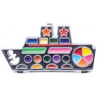 Buy 12 water color ship-shaped painters set with paint brush at wholesale prices